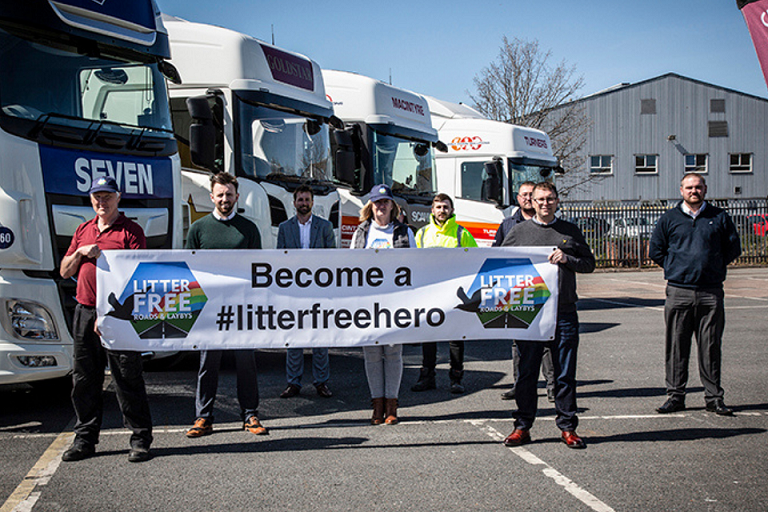 Logistics community embraces Litter Free Roads and Laybys